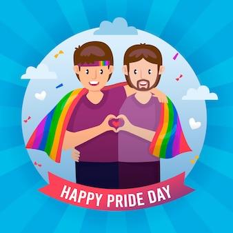 Ilustração do dia do orgulho gradiente