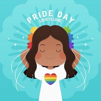 Ilustração do dia do orgulho plana