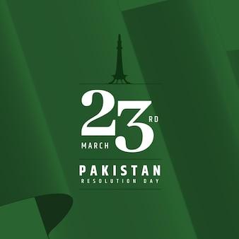 Ilustração do dia do paquistão com mesquita de badshahi