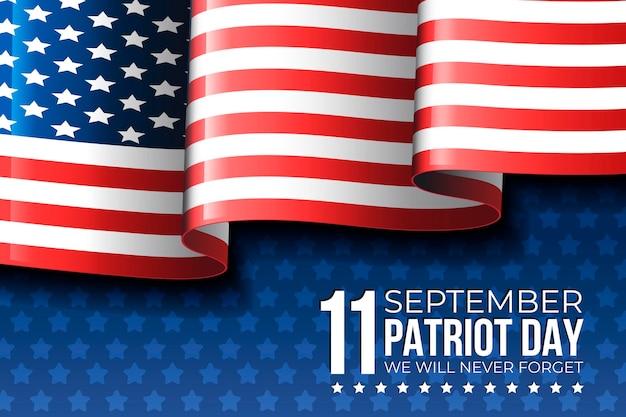 Ilustração do dia do patriota gradiente 9.11
