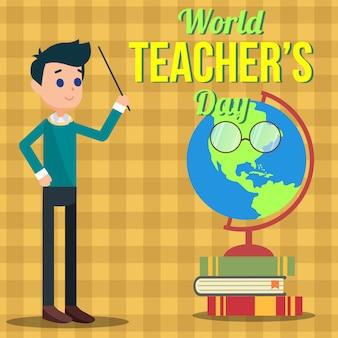Ilustração do dia do professor do mundo