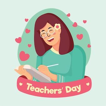 Ilustração do dia do professor