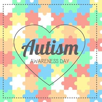 Ilustração do dia do reconhecimento do autismo