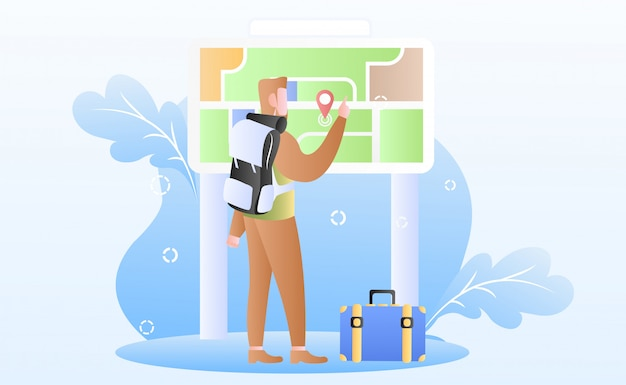 Ilustração do dia do turismo