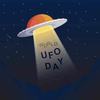 Ilustração do dia do ufo do mundo