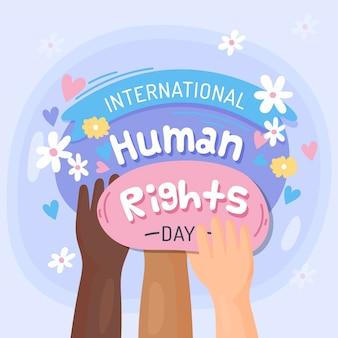 Ilustração do dia dos direitos humanos