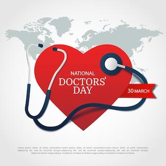 Ilustração do dia dos médicos.