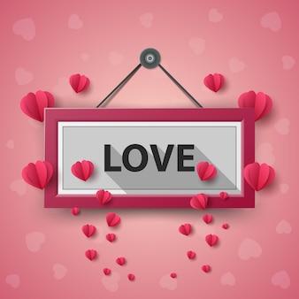 Ilustração do dia dos namorados. balão de ar, coração.