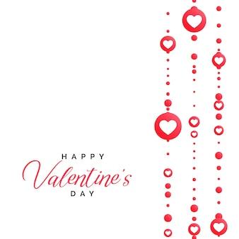 Ilustração do dia dos namorados com decoração dos corações