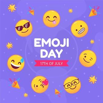 Ilustração do dia emoji do mundo dos desenhos animados