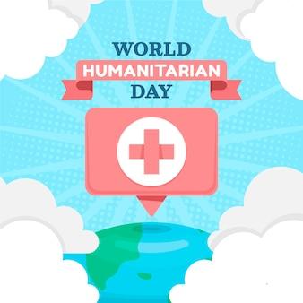 Ilustração do dia humanitário do mundo plano