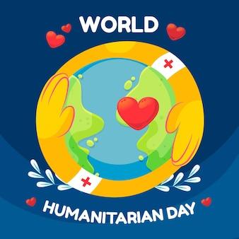Ilustração do dia humanitário mundial dos desenhos animados