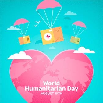 Ilustração do dia humanitário mundial gradiente