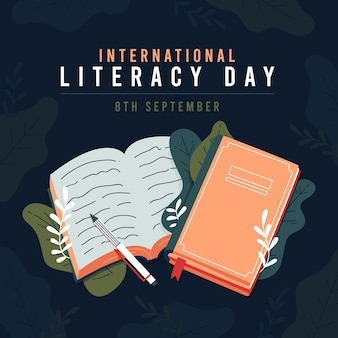 Ilustração do dia internacional da alfabetização