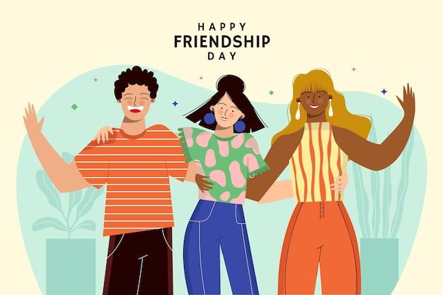 Ilustração do dia internacional da amizade Vetor Premium