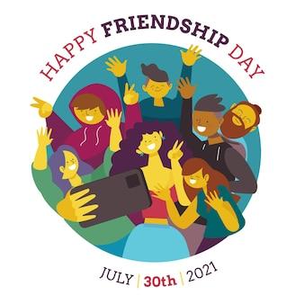 Ilustração do dia internacional da amizade