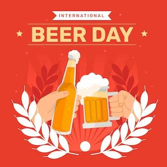 Ilustração do dia internacional da cerveja