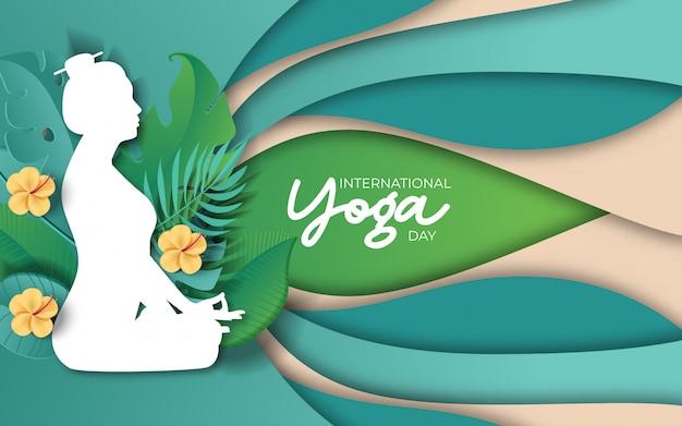 Ilustração do dia internacional da ioga