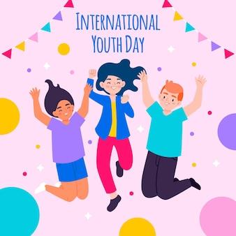 Ilustração do dia internacional da juventude