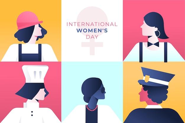 Ilustração do dia internacional da mulher