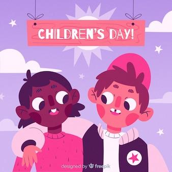Ilustração do dia internacional das crianças