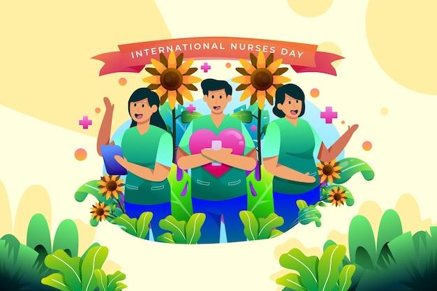 Ilustração do dia internacional do enfermeiro