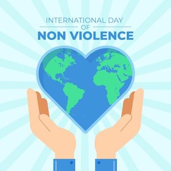 Ilustração do dia internacional do evento não violento