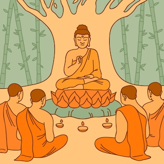 Ilustração do dia makha bucha desenhada à mão