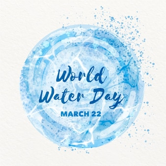 Ilustração do dia mundial da água em aquarela