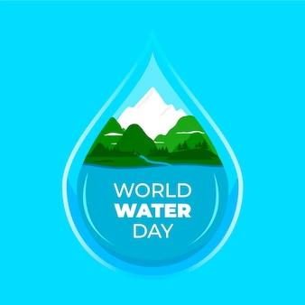 Ilustração do dia mundial da água em design plano