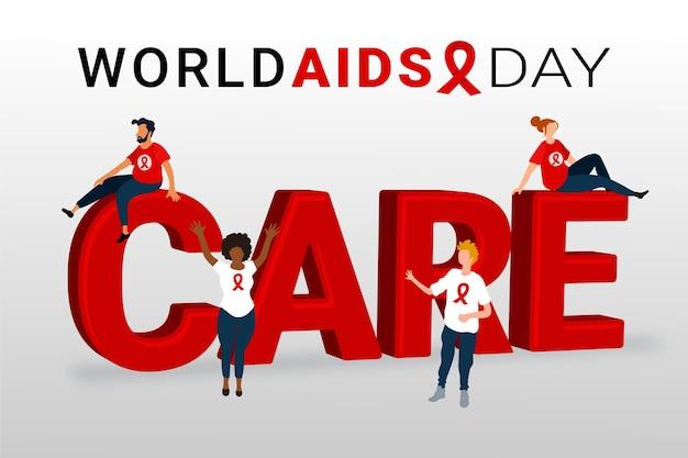 Ilustração do dia mundial da aids