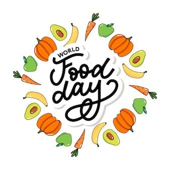 Ilustração do dia mundial da alimentação