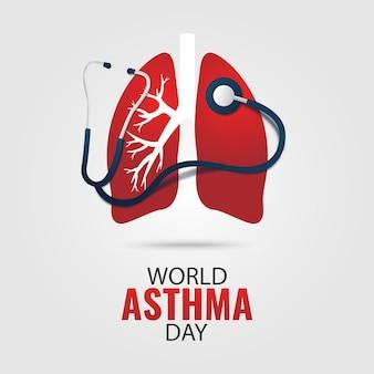 Ilustração do dia mundial da asma