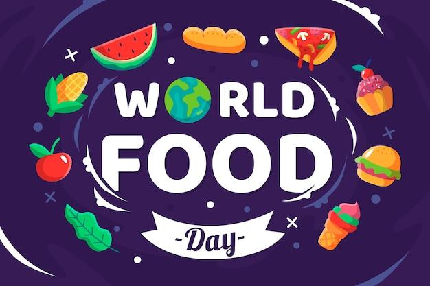 Ilustração do dia mundial da comida em design plano