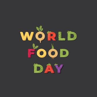 Ilustração do dia mundial da comida.