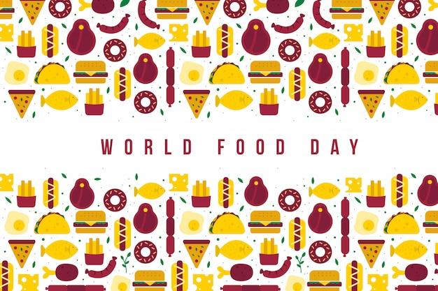 Ilustração do dia mundial da comida