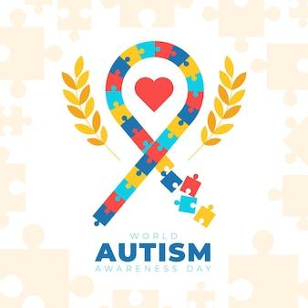 Ilustração do dia mundial da conscientização do autismo