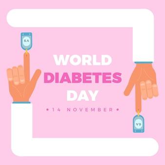 Ilustração do dia mundial da diabetes em design plano