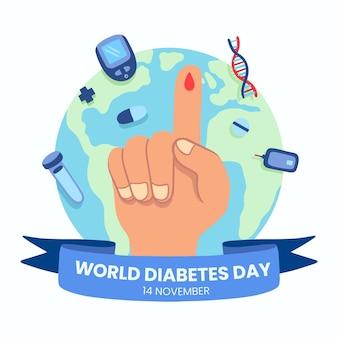 Ilustração do dia mundial da diabetes