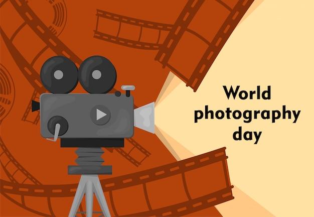 Ilustração do dia mundial da fotografia -19 de agosto