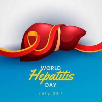Ilustração do dia mundial da hepatite gradiente