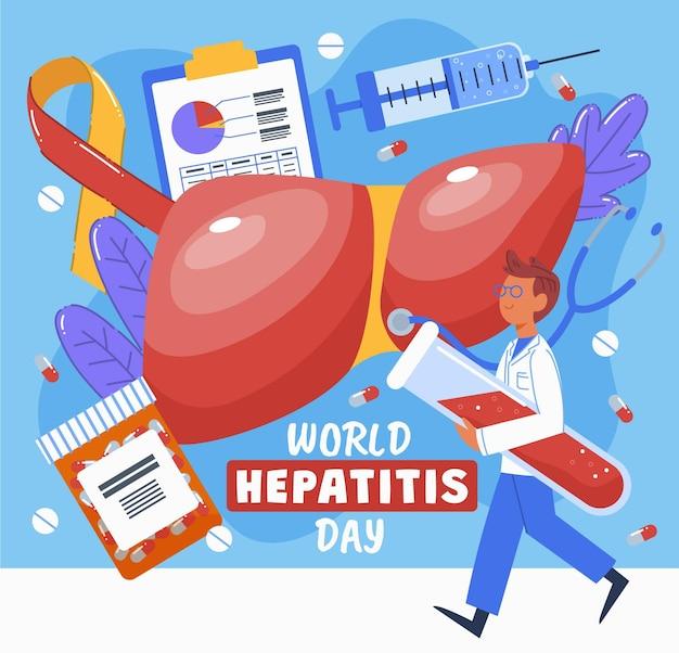 Ilustração do dia mundial da hepatite
