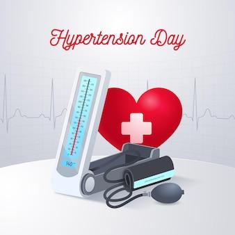 Ilustração do dia mundial da hipertensão realista