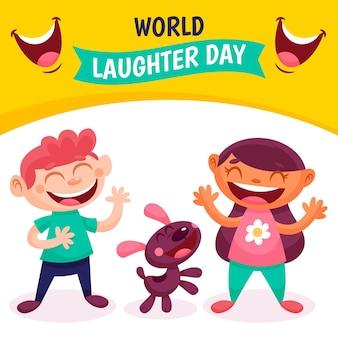 Ilustração do dia mundial da liberdade de imprensa dos desenhos animados