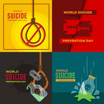 Ilustração do dia mundial da prevenção do suicídio