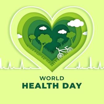 Ilustração do dia mundial da saúde em estilo jornal