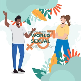 Ilustração do dia mundial da saúde sexual