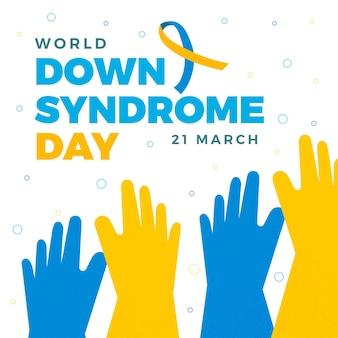 Ilustração do dia mundial da síndrome de down