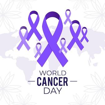 Ilustração do dia mundial do câncer