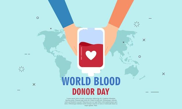Ilustração do dia mundial do doador de sangue ilustração de pessoas doador de sangue